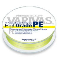 Шнур плетеный VARIVAS High Grade PE Yellow 150m